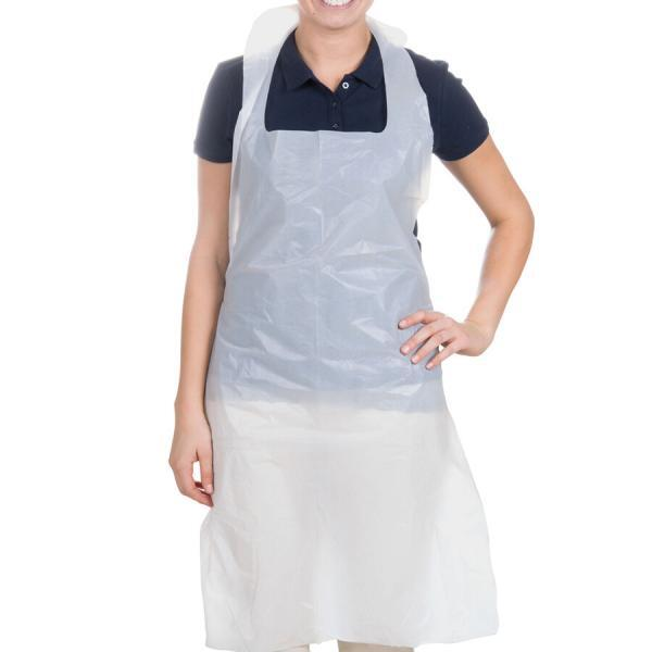Disposable White Aprons - packed in 100's