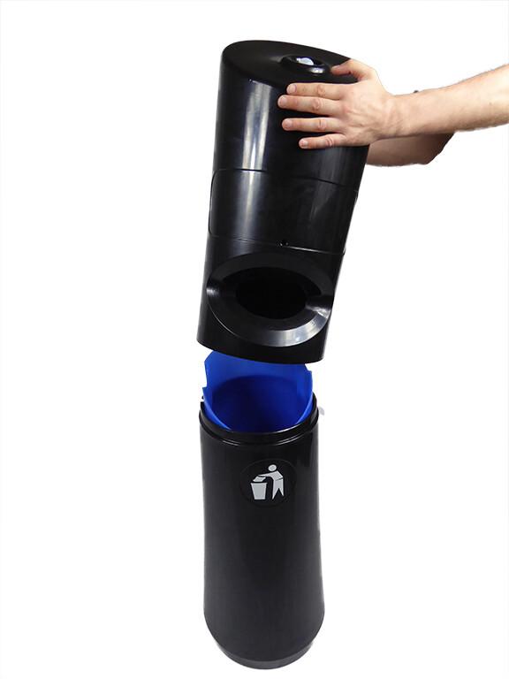 PN1522 showing bin of Floor Standing Wet Wipe Dispenser