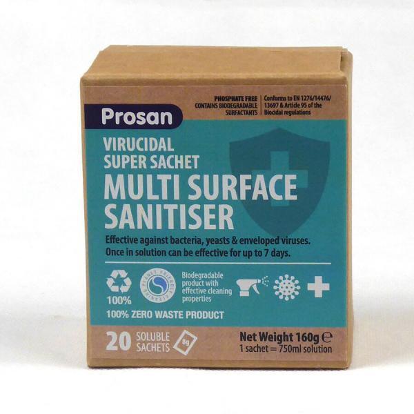 PN821 Multi Surface Sanitiser Virucidal Super Sachet Box of 20