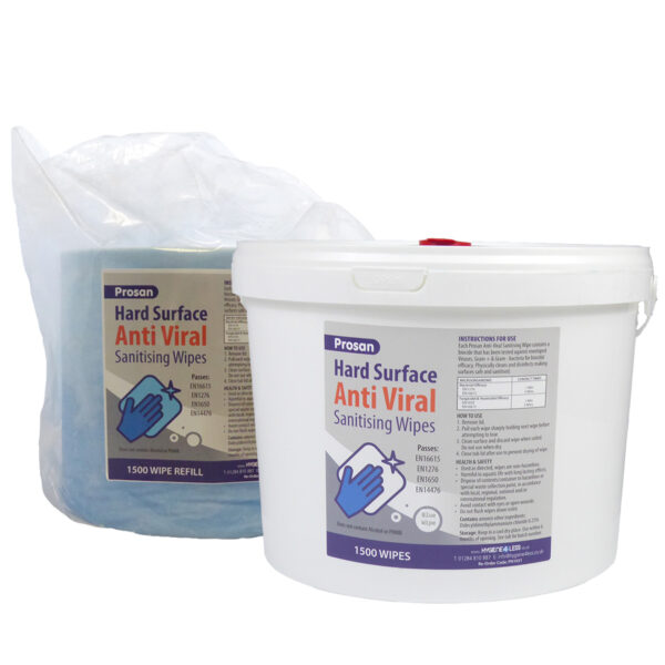 PN1031 & PN1062 Hard Surface Anti Viral Wipes 1500 Bucket & Refill