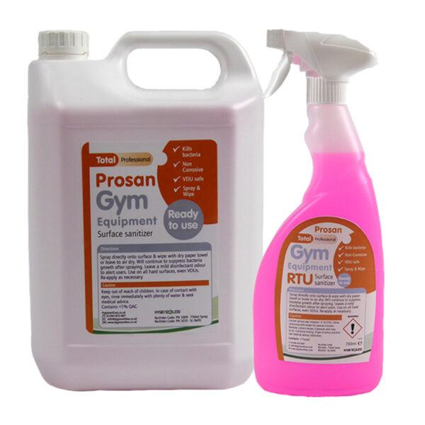 PN1009 & PN1010 Prosan Gym Sanitiser Trigger Spray & 5 Litre Refill