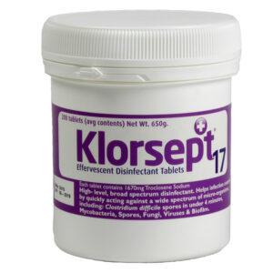 PN506 - Klorsept x 200 Effervescent Chlorine Disinfection Tablets